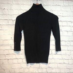 Express Black Turtleneck Thin Sweater